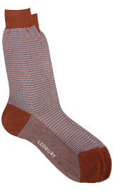 The Brown Houndstooth Sock