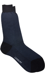 The Navy Herringbone Sock