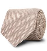 The Brown Corben Dot Tie
