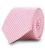The Pink Wilde Houndstooth Tie