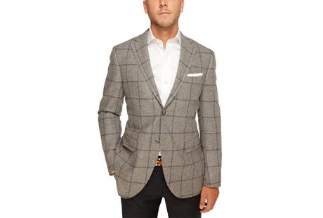 The Grey Chapman Windowpane Sport Coat