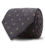 The Navy Russell Dot Tie